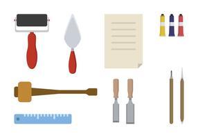 Vettori di strumenti di litografia piana