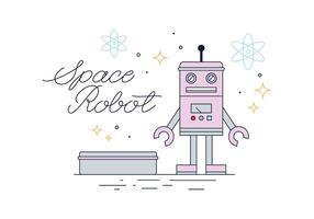 Tin Robot Vector gratuito