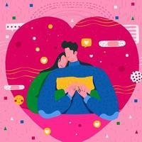 carta da parati felice San Valentino