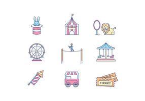 Icone di luna park vettore