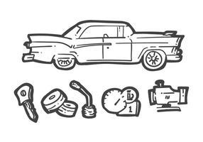 Vettori di station wagon unici