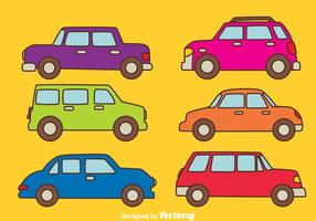 Vettore colorato della raccolta dell'automobile