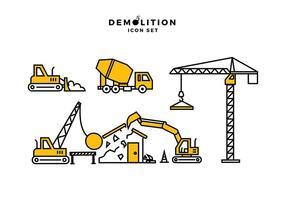 Demolizione Icona vettoriali gratis