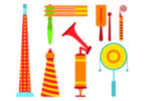 Set di icone di rumore Maker vettore