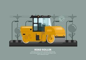 Illustrazione del rullo compressore vettore