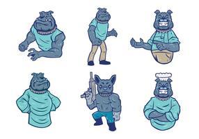 Vettore della mascotte del bulldog