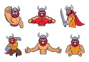 Vettore libero della mascotte di Vikings