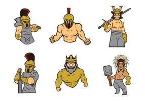 Vettore di logo di guerrieri
