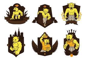 Vettore libero della mascotte del distintivo di Cougars