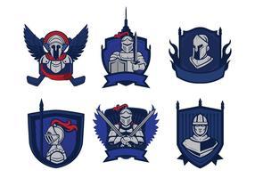 Vettore di mascotte distintivo cavalieri