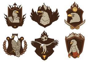 Vettore gratuito della mascotte del distintivo di Eagles
