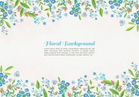 Sfondo di fiori blu acquerello vettoriali gratis