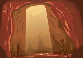 Vettore interno della caverna