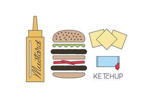 Hamburger vettoriale gratuito