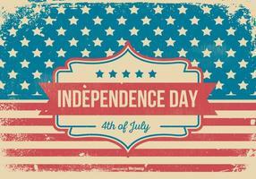 Illustrazione di giorno di indipendenza di stile del grunge vettore