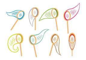 Icone della rete della farfalla vettore