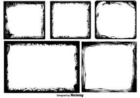 Raccolta di bordi di foto di Grunge di vettore