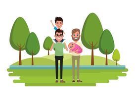 personaggi dei cartoni animati di famiglia insieme