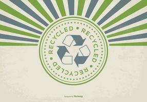 Il retro stile ricicla l'illustrazione del fondo vettore