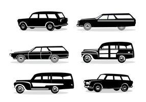 sagoma station wagon vettore