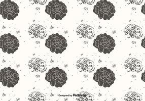 Vettore disegnato a mano del modello di fiore