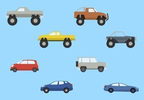 Vettori di auto piatte