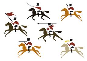 Vettore di illustrazione della cavalleria
