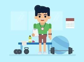 Illustrazione di personal trainer