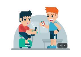 Illustrazione di personal trainer gratuita vettore
