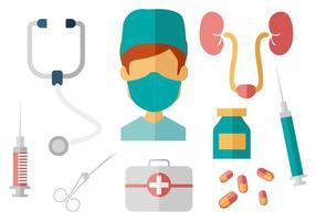 Urologo gratuito con elemento del sistema urinario vettore