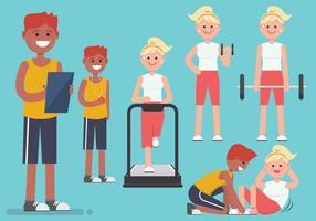 vettore di fitness personal trainer