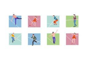 Set vettoriale di funamboli gratis