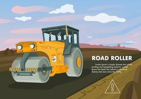 Illustrazione di vettore del trattore del rullo compressore
