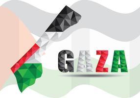 Poligono Gaza Map vettore