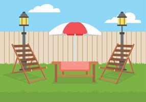 Vettore libero del cortile del prato inglese della sedia