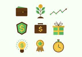 Icone di vettore di benefici aziendali