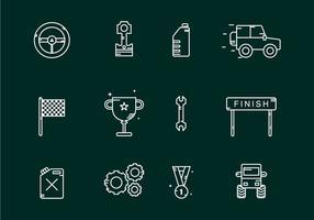 Icone della concorrenza fuori strada