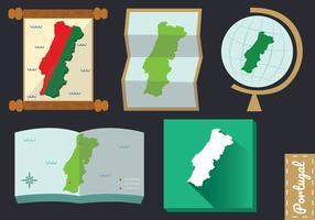 Portogallo Mappa vettoriale Pack