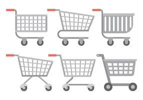 Icone di vettore del carrello del supermercato