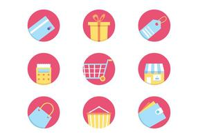 Icone dello shopping vettore