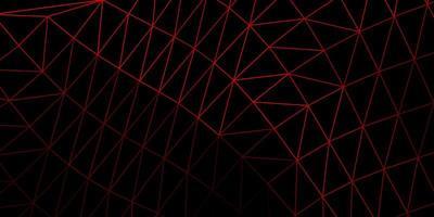 struttura del triangolo poli rosso scuro.