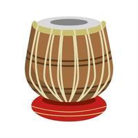 icona dello strumento musicale a tamburo vettore