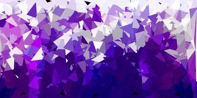 struttura del triangolo poli viola scuro.