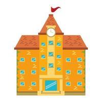 simbolo isolato architettura edificio scolastico vettore