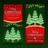 buon natale e felice anno nuovo modello di banner