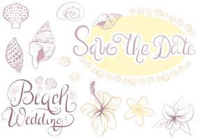 Vettori di Beach Wedding 2 gratis