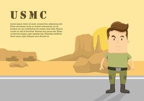 Vettore libero del personaggio dei cartoni animati di USMC
