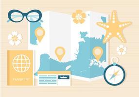 Estate gratis in viaggio Template Background vettore