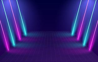 sfondo del cancello di luce al neon vettore