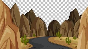 paesaggio di scena del parco naturale vuoto su sfondo trasparente vettore